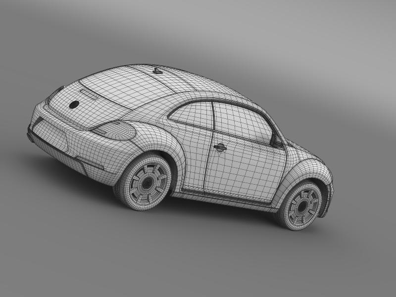 vw beetle design 2012 3d model 3ds max fbx c4d lwo ma mb hrc xsi obj 147445