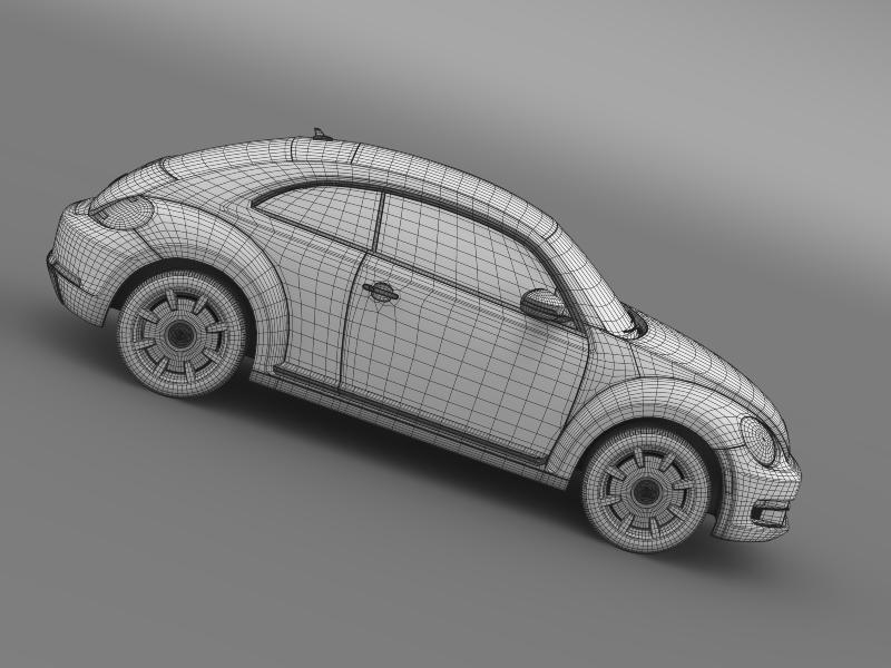 vw beetle design 2012 3d model 3ds max fbx c4d lwo ma mb hrc xsi obj 147446