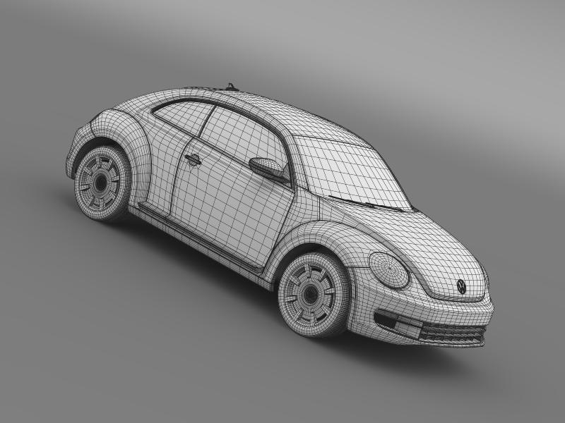 vw beetle design 2012 3d model 3ds max fbx c4d lwo ma mb hrc xsi obj 147447