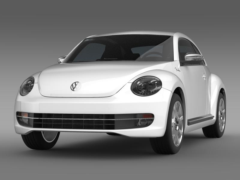 vw beetle fender izdanje 2012 3d model 3ds max fbx c4d