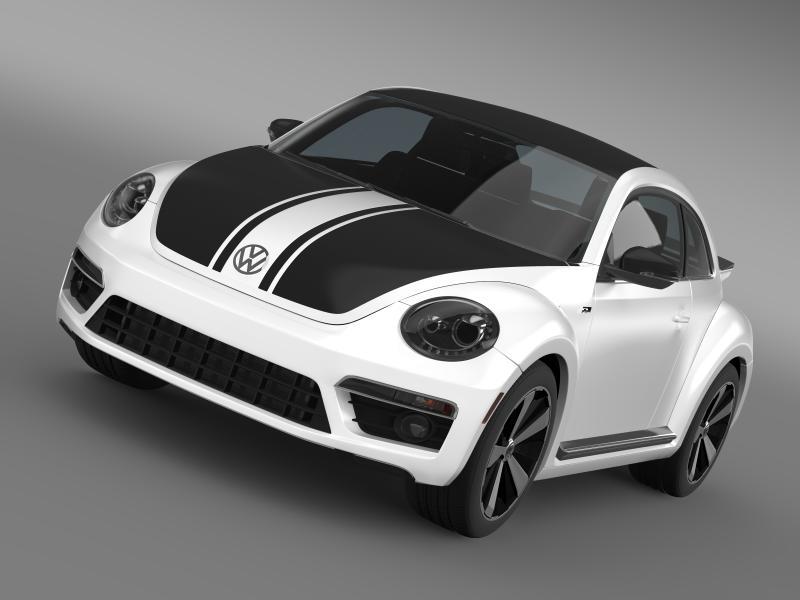 vw beetle gsr 2013 3d model 3ds max fbx c4d lwo ma mb hrc xsi obj 150351