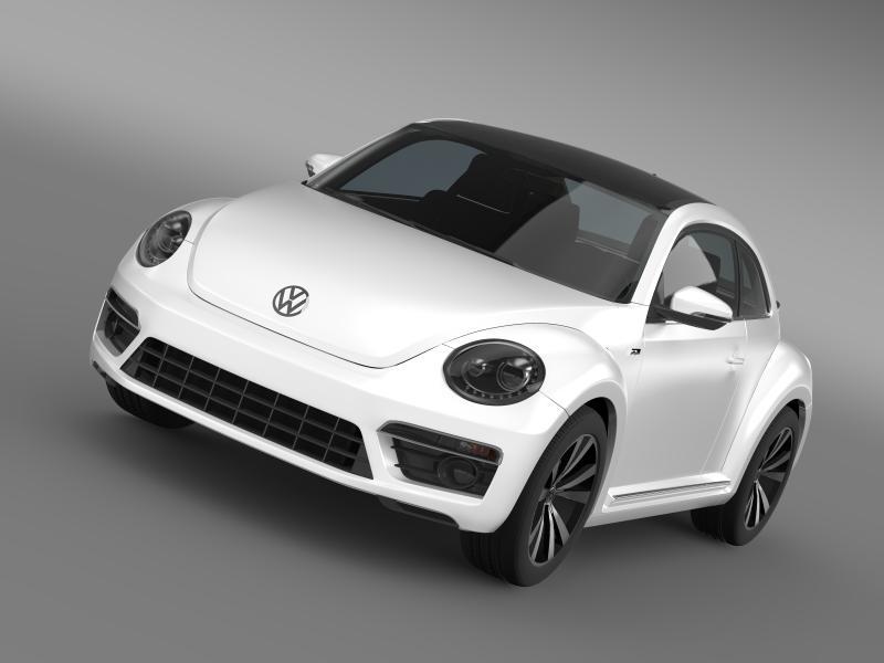 vw beetle rline 2014 3d model 3ds max fbx c4d lwo ma mb hrc xsi obj 149839