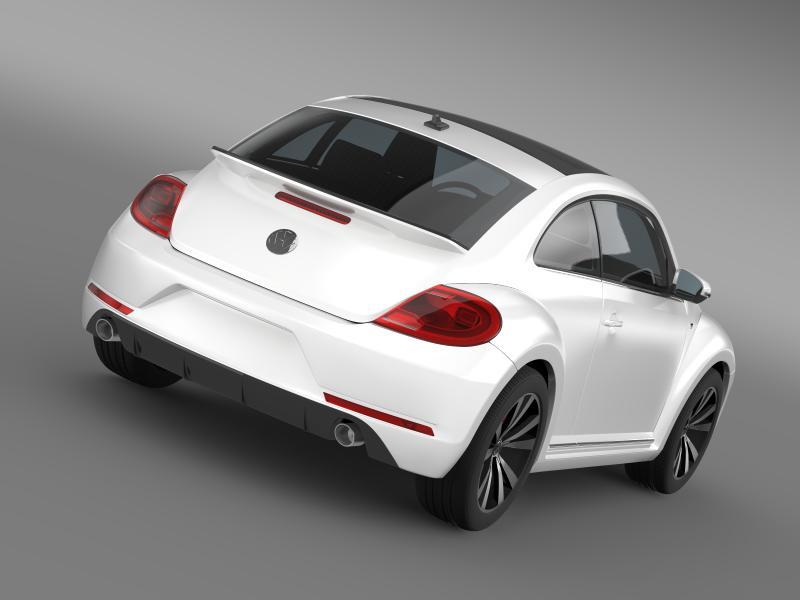vw beetle rline 2014 3d model 3ds max fbx c4d lwo ma mb hrc xsi obj 149840