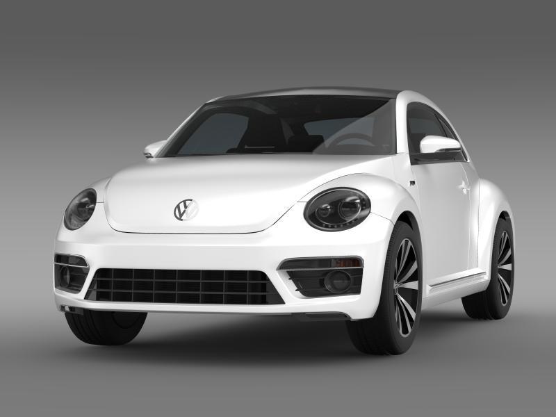 vw beetle rline 2014 3d model 3ds max fbx c4d lwo ma mb hrc xsi obj 149841