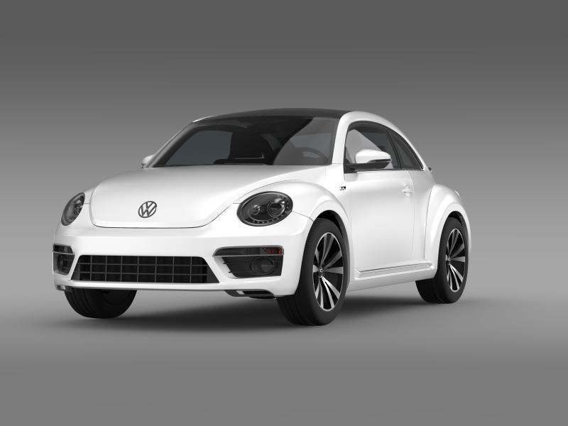 vw beetle rline 2014 3d model 3ds max fbx c4d lwo ma mb hrc xsi obj 149842