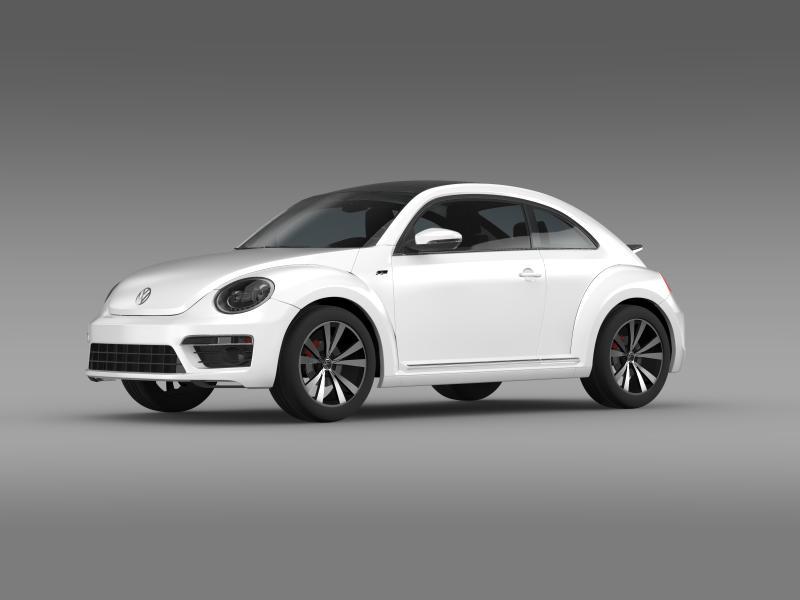 vw beetle rline 2014 3d model 3ds max fbx c4d lwo ma mb hrc xsi obj 149843