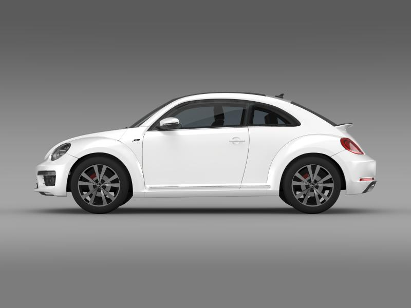 vw beetle rline 2014 3d model 3ds max fbx c4d lwo ma mb hrc xsi obj 149844