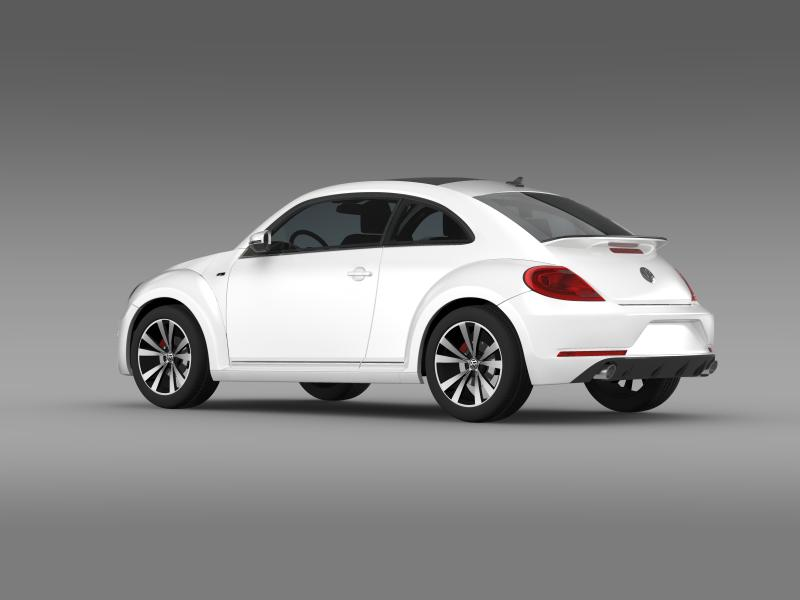 vw beetle rline 2014 3d model 3ds max fbx c4d lwo ma mb hrc xsi obj 149845