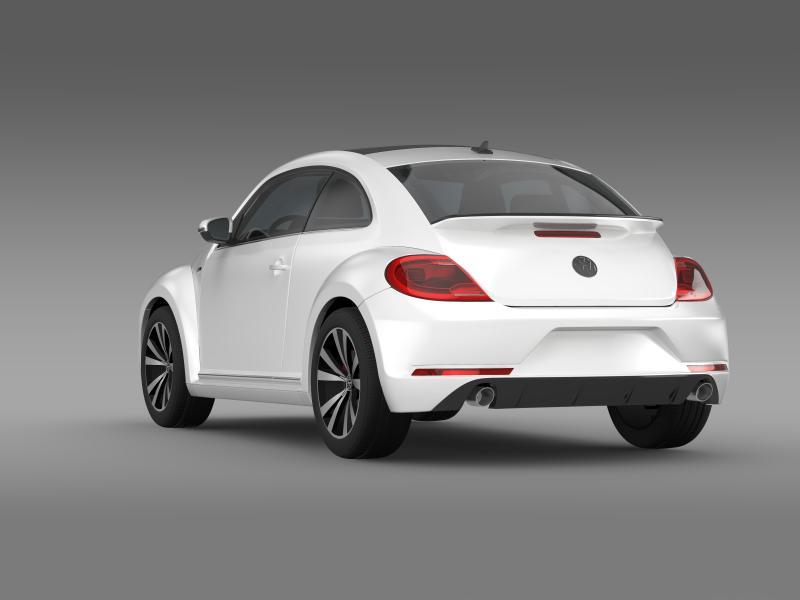vw beetle rline 2014 3d model 3ds max fbx c4d lwo ma mb hrc xsi obj 149846