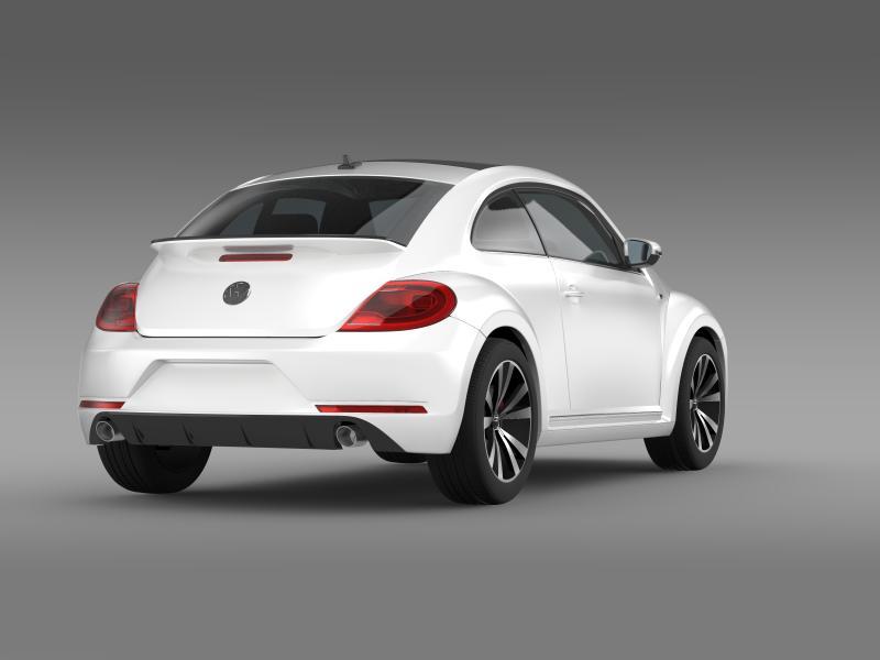 vw beetle rline 2014 3d model 3ds max fbx c4d lwo ma mb hrc xsi obj 149847