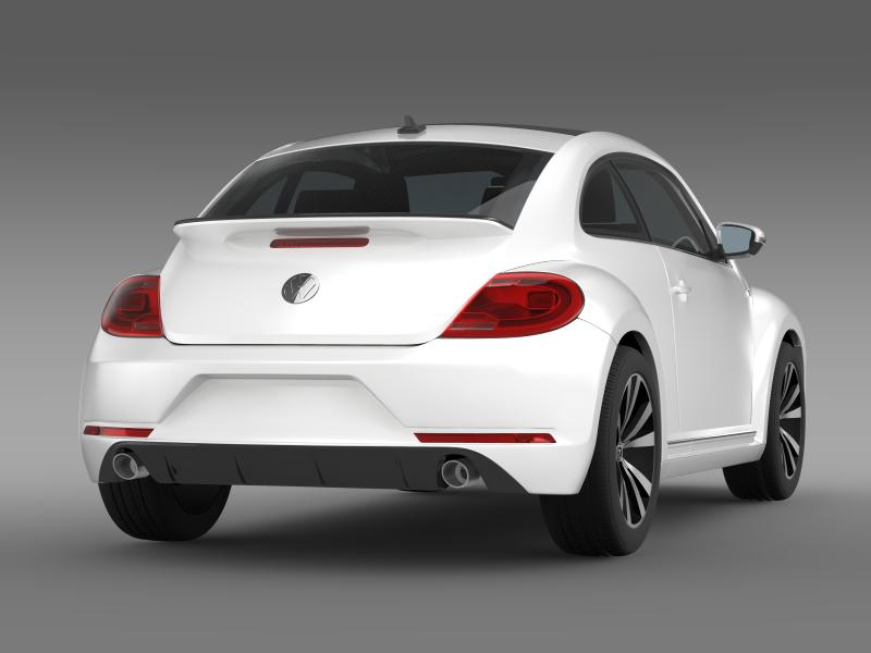 vw beetle rline 2014 3d model 3ds max fbx c4d lwo ma mb hrc xsi obj 149848