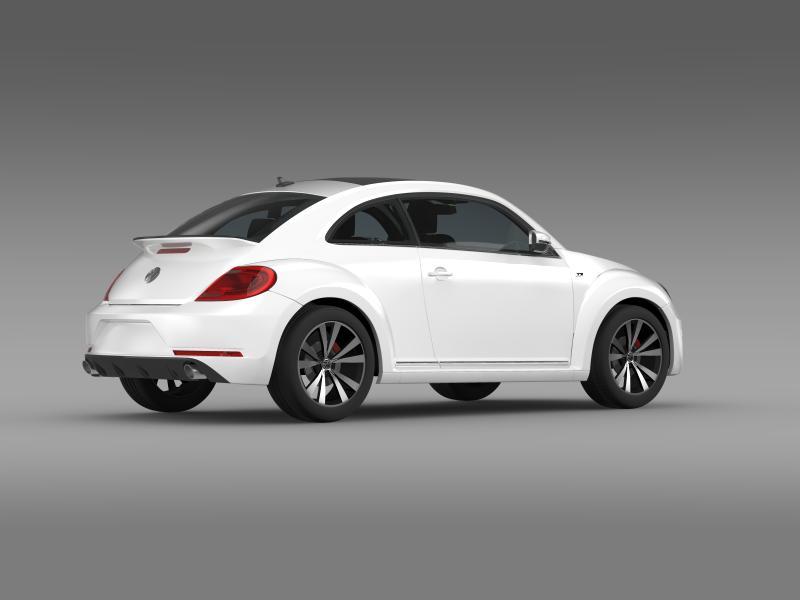 vw beetle rline 2014 3d model 3ds max fbx c4d lwo ma mb hrc xsi obj 149849