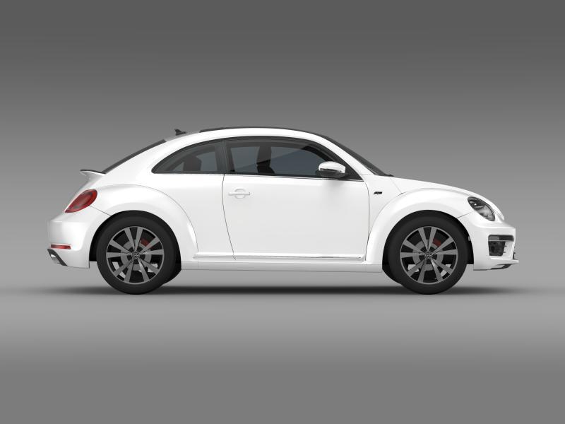 vw beetle rline 2014 3d model 3ds max fbx c4d lwo ma mb hrc xsi obj 149850
