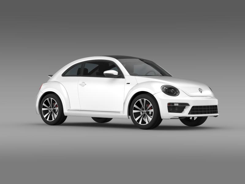 vw beetle rline 2014 3d model 3ds max fbx c4d lwo ma mb hrc xsi obj 149851