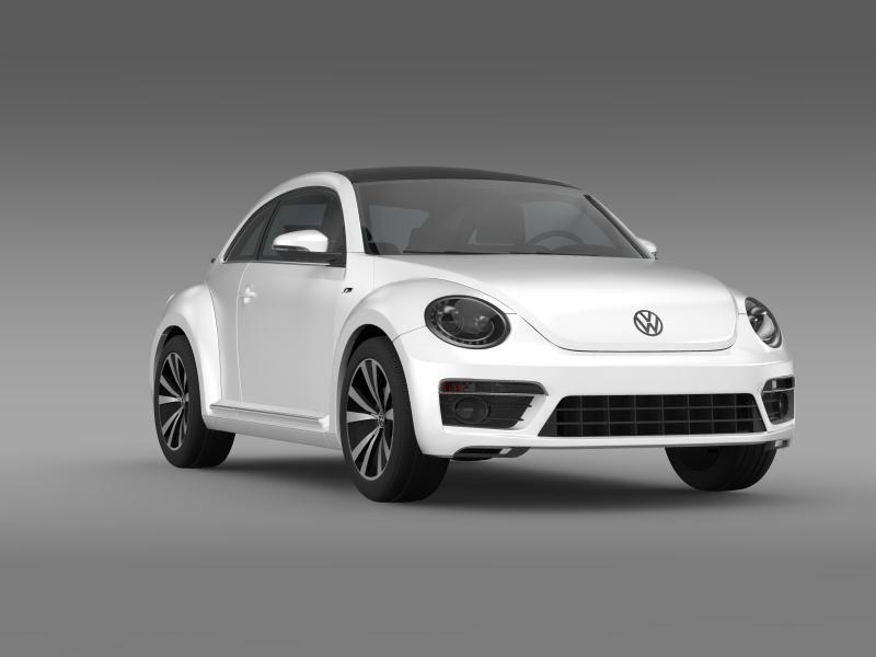 vw beetle rline 2014 3d model 3ds max fbx c4d lwo ma mb hrc xsi obj 149852