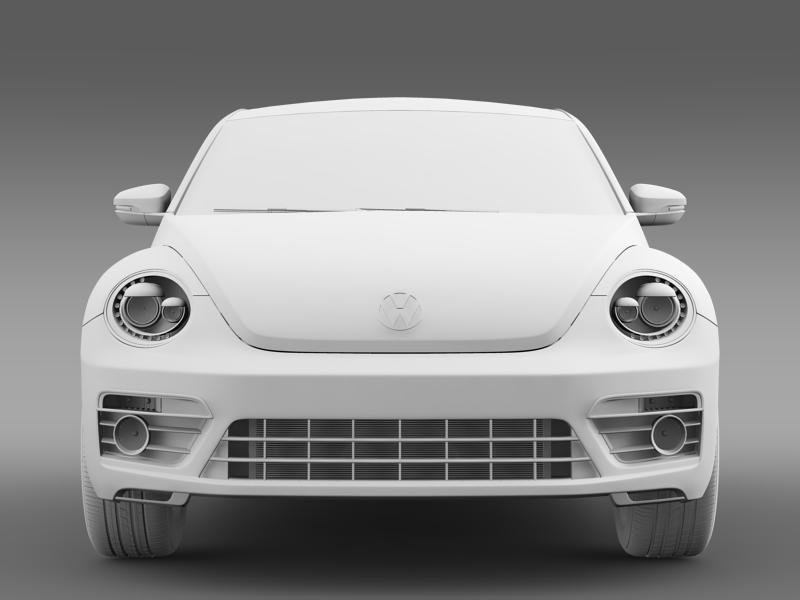 vw beetle rline 2014 3d model 3ds max fbx c4d lwo ma mb hrc xsi obj 149853