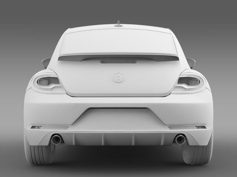 vw beetle rline 2014 3d model 3ds max fbx c4d lwo ma mb hrc xsi obj 149854