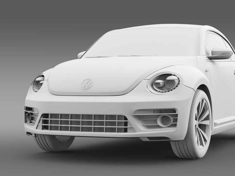 vw beetle rline 2014 3d model 3ds max fbx c4d lwo ma mb hrc xsi obj 149855