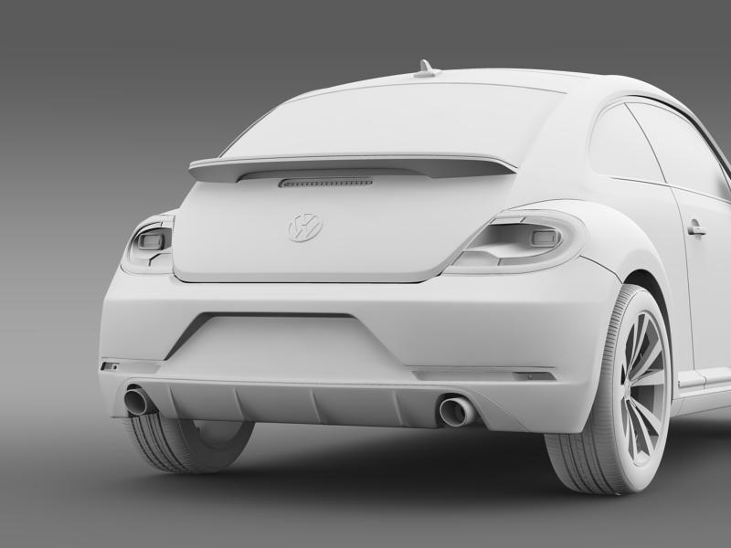vw beetle rline 2014 3d model 3ds max fbx c4d lwo ma mb hrc xsi obj 149856
