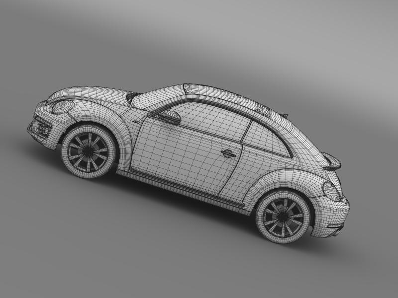 vw beetle rline 2014 3d model 3ds max fbx c4d lwo ma mb hrc xsi obj 149857