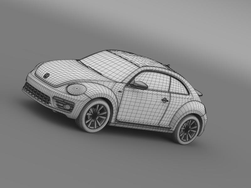 vw beetle rline 2014 3d model 3ds max fbx c4d lwo ma mb hrc xsi obj 149858