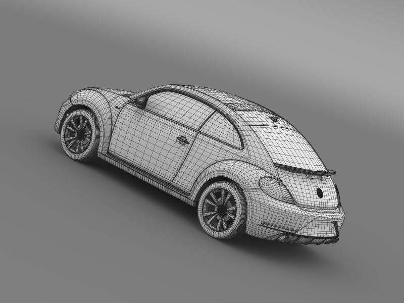 vw beetle rline 2014 3d model 3ds max fbx c4d lwo ma mb hrc xsi obj 149859