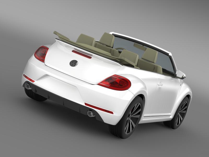 vw beetle rline cabrio 2014 3d model 3ds max fbx c4d lwo ma mb hrc xsi obj 149861
