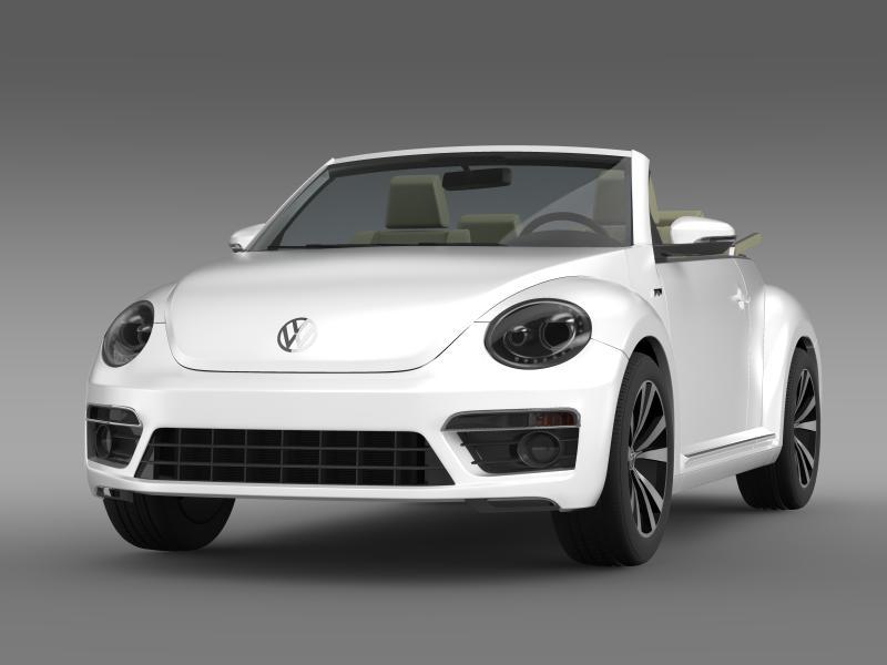 vw beetle rline cabrio 2014 3d model 3ds max fbx c4d lwo ma mb hrc xsi obj 149862