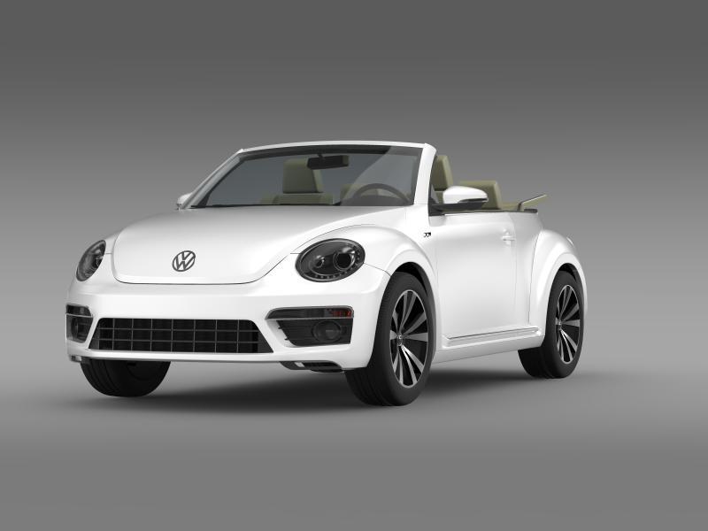 vw beetle rline cabrio 2014 3d model 3ds max fbx c4d lwo ma mb hrc xsi obj 149863