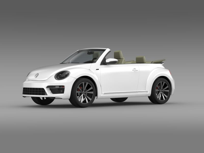 vw beetle rline cabrio 2014 3d model 3ds max fbx c4d lwo ma mb hrc xsi obj 149864