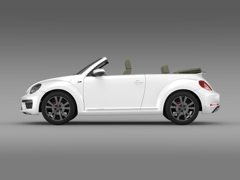 vw beetle rline cabrio 2014 3d model 3ds max fbx c4d lwo ma mb hrc xsi obj 149865