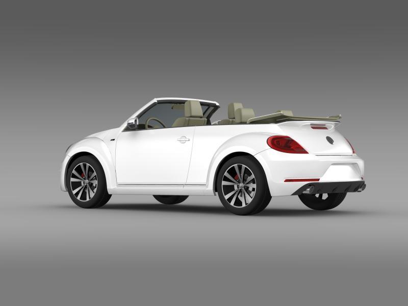 vw beetle rline cabrio 2014 3d model 3ds max fbx c4d lwo ma mb hrc xsi obj 149866
