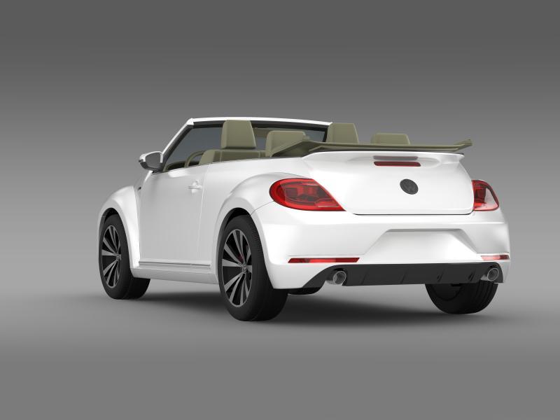 vw beetle rline cabrio 2014 3d model 3ds max fbx c4d lwo ma mb hrc xsi obj 149867