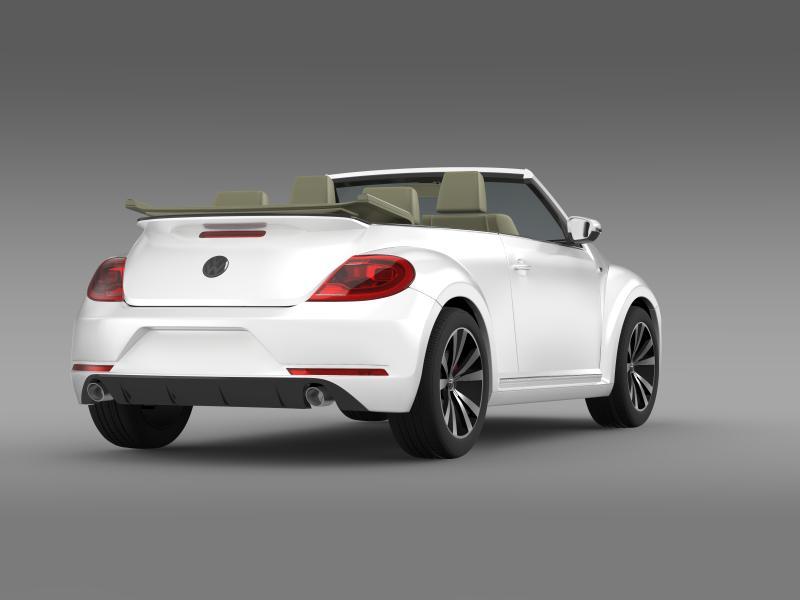 vw beetle rline cabrio 2014 3d model 3ds max fbx c4d lwo ma mb hrc xsi obj 149869