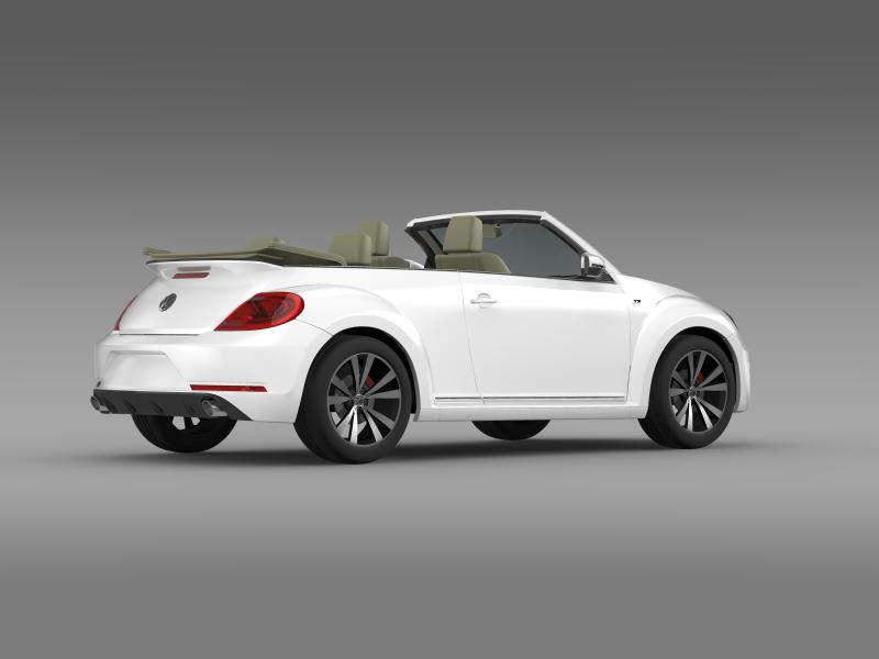 vw beetle rline cabrio 2014 3d model 3ds max fbx c4d lwo ma mb hrc xsi obj 149870