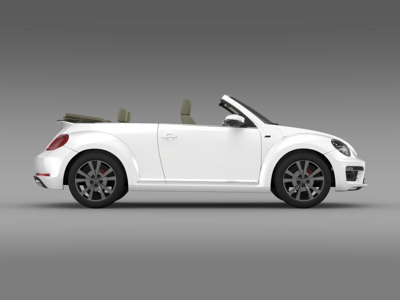vw beetle rline cabrio 2014 3d model 3ds max fbx c4d lwo ma mb hrc xsi obj 149871