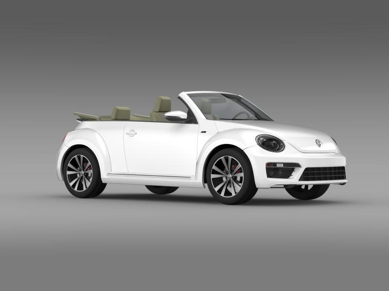 vw beetle rline cabrio 2014 3d model 3ds max fbx c4d lwo ma mb hrc xsi obj 149872
