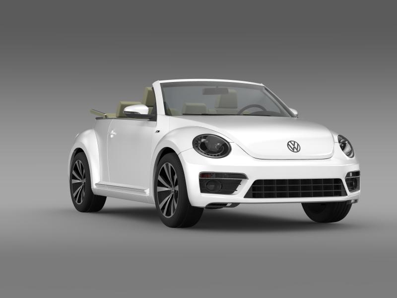 vw beetle rline cabrio 2014 3d model 3ds max fbx c4d lwo ma mb hrc xsi obj 149873