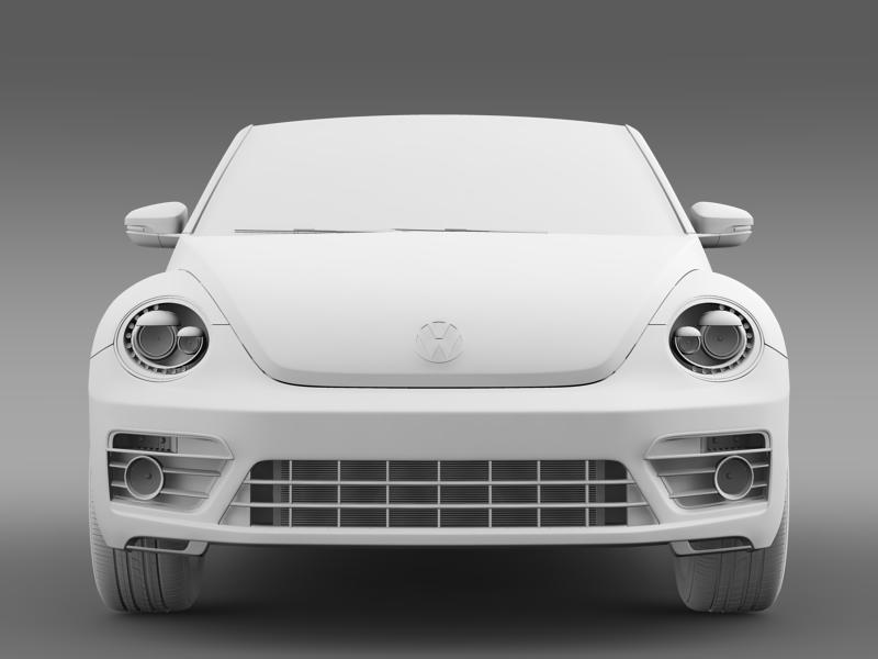 vw beetle rline cabrio 2014 3d model 3ds max fbx c4d lwo ma mb hrc xsi obj 149874
