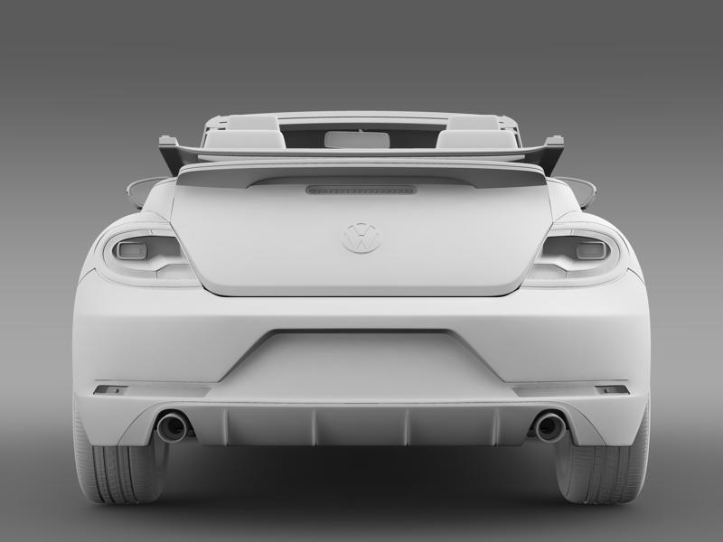 vw beetle rline cabrio 2014 3d model 3ds max fbx c4d lwo ma mb hrc xsi obj 149875