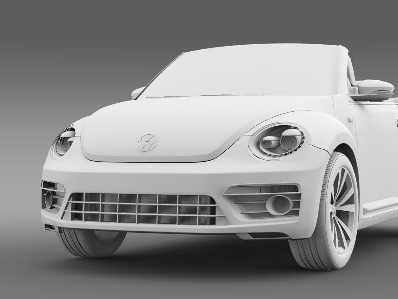 vw beetle rline cabrio 2014 3d model 3ds max fbx c4d lwo ma mb hrc xsi obj 149876