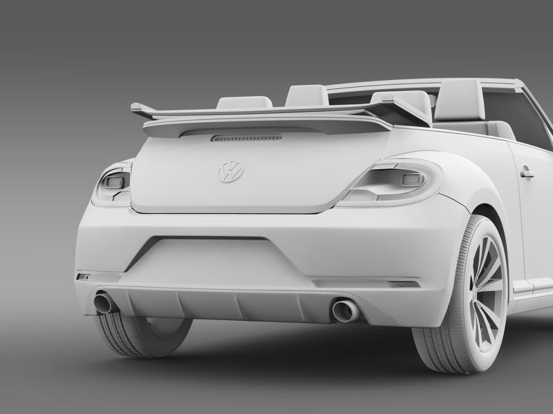 vw beetle rline cabrio 2014 3d model 3ds max fbx c4d lwo ma mb hrc xsi obj 149877