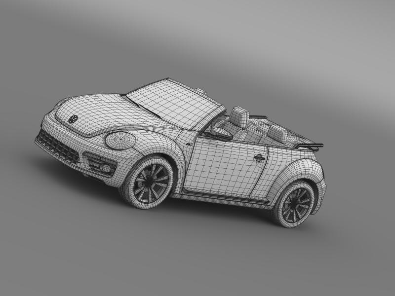 vw beetle rline cabrio 2014 3d model 3ds max fbx c4d lwo ma mb hrc xsi obj 149878