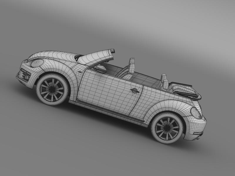 vw beetle rline cabrio 2014 3d model 3ds max fbx c4d lwo ma mb hrc xsi obj 149879
