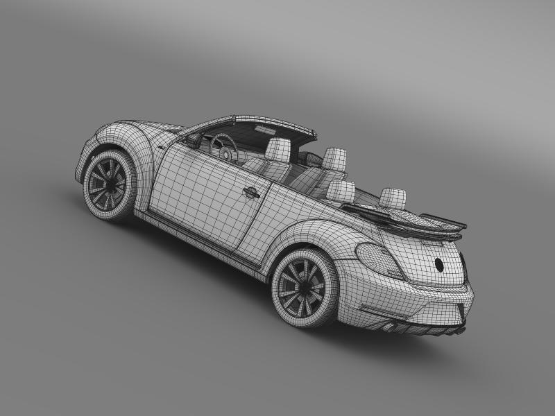 vw beetle rline cabrio 2014 3d model 3ds max fbx c4d lwo ma mb hrc xsi obj 149880