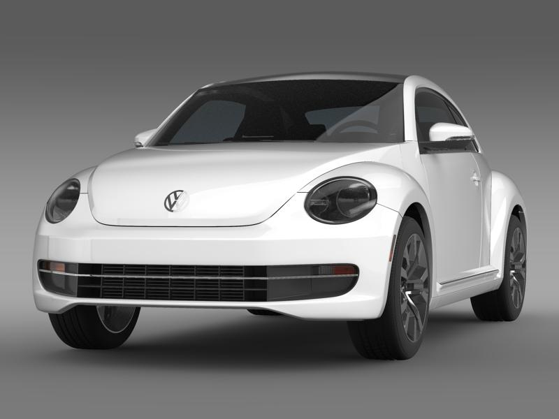 vw beetle tdi 2013 3d model 3ds max fbx c4d lwo ma mb hrc xsi obj 147501