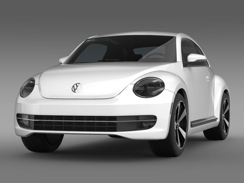 vw beetle turbo black 2012 3d model 3ds max fbx c4d lwo ma mb hrc xsi obj 147525