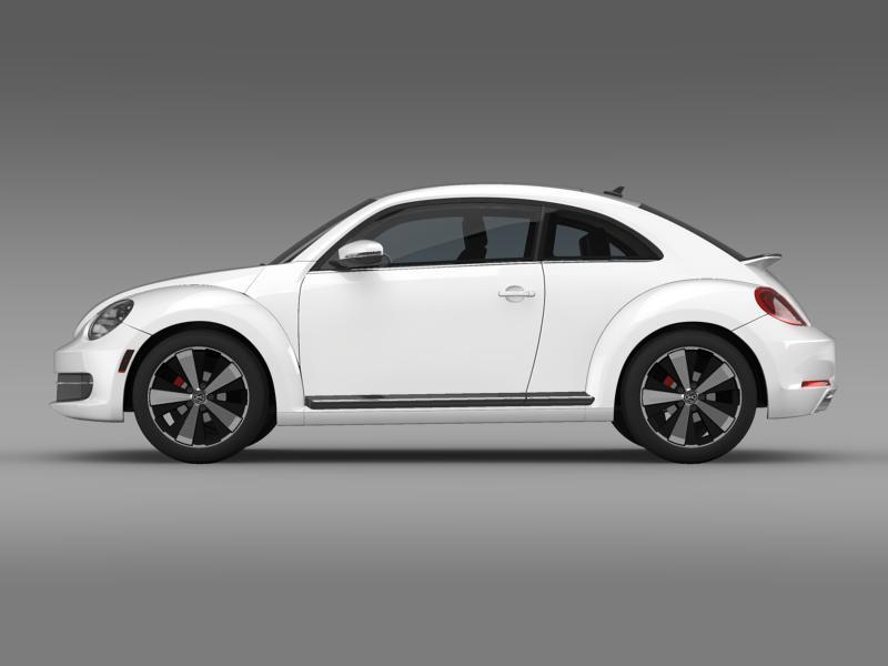 vw beetle turbo black 2012 3d model 3ds max fbx c4d lwo ma mb hrc xsi obj 147528