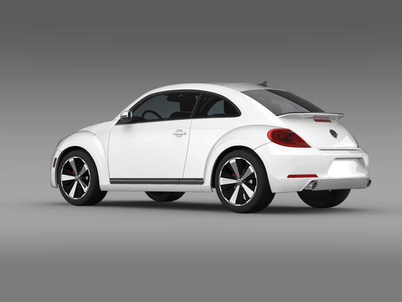 vw beetle turbo black 2012 3d model 3ds max fbx c4d lwo ma mb hrc xsi obj 147529