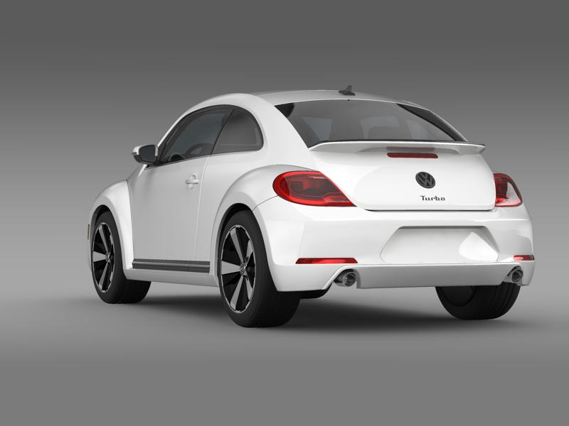 vw beetle turbo black 2012 3d model 3ds max fbx c4d lwo ma mb hrc xsi obj 147530